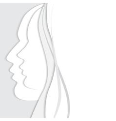 beautiful man and woman profiles vector image