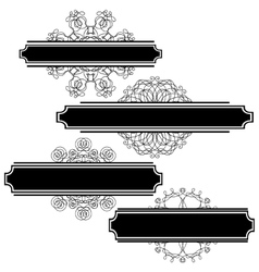 Set of different flourishes vector