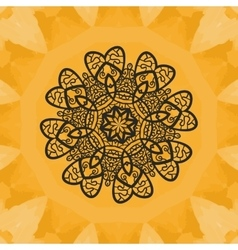 Yoga print ornament kaleidoscopic floral yantra vector