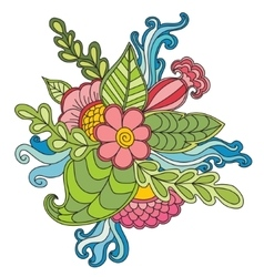 Hand drawn artistic ethnic ornamental patterned vector