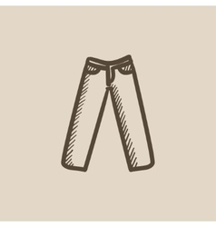 Trousers sketch icon vector