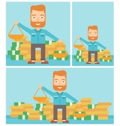 Businessman with scales vector