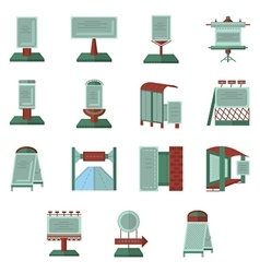 Advertisement flat color icons vector image vector image