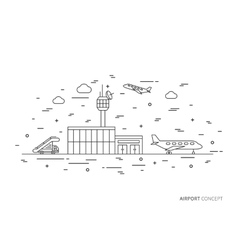 Airport creative graphic concept vector