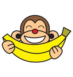 Banana monkey vector