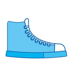blue icon boot cartoon vector image vector image