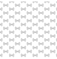 Bones pattern black and white vector