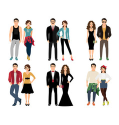 casual vogue couple vector image
