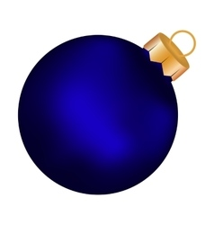 Christmas blue ball on a white background vector