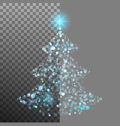 christmas tree from light and bokeh eps 10 vector image vector image
