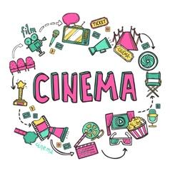 Cinema design concept vector