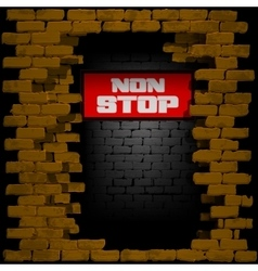 display non stop in breaking the brick wall vector image