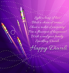Diwali background with crackers vector