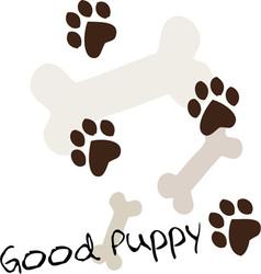 Good Puppy vector image vector image