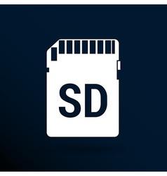 Icon sd card black silhouette symbol vector