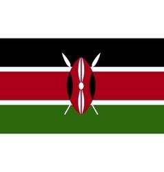 Kenya flag image vector
