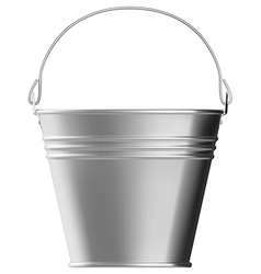 Metal bucket vector