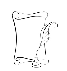 Parchment and ink vector image