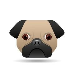 Pug dog puppy face icon design vector