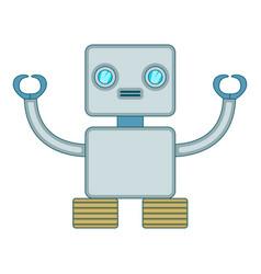 Robotic toy icon cartoon style vector