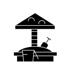 sandbox icon sign o vector image
