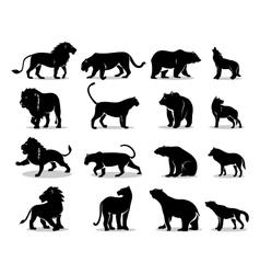 Set of predators vector
