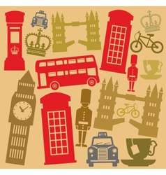 uk icon set vector image vector image