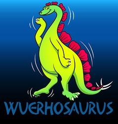 Wuerhosaurus cute character dinosaurs vector
