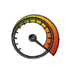 Speedometer power car vector