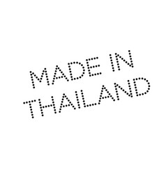 made in thailand rubber stamp vector image