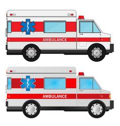 Ambulance cars vector