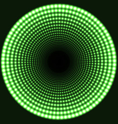 Led mirror abstract round background green vector