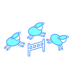 Cute lambs jumping the fence vector