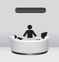 Administrator receptionist vector