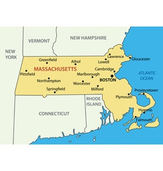 Commonwealth of massachusetts - map vector