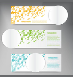 Abstract circles template banner design vector