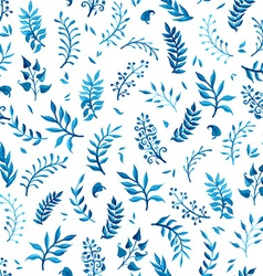 Watercolor blue seamless pattern vector