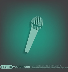 Microphone musical symbol singing pop sign vector