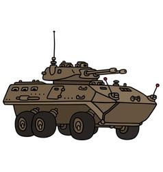 Wheeled armoured vehicle vector