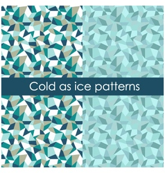 Cold as ice pattern vector