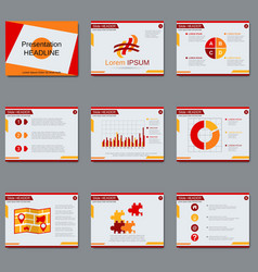 Professional business presentation design vector