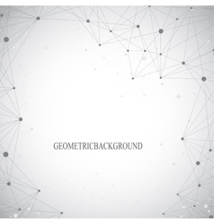Geometric grey background molecule and vector