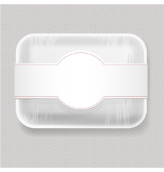 Plastic food container vector