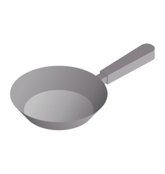 Satin copper frying pan vector