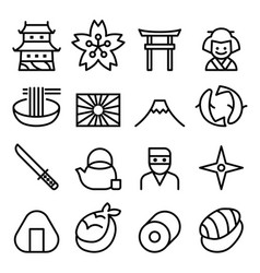 Basic japan icon symbol in thin line style vector