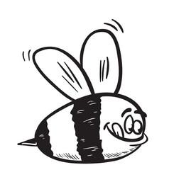 bee black vector image