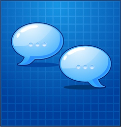bubble chat icon vector image vector image