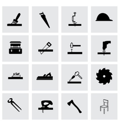 carpentry icon set vector image vector image