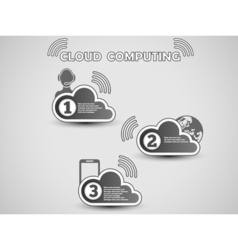 COULD COMPUTING CLASSIFICATION vector image