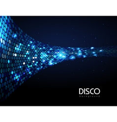 Disco abstract blue neon background vector image